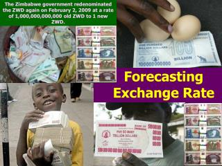 Forecasting Exchange Rate