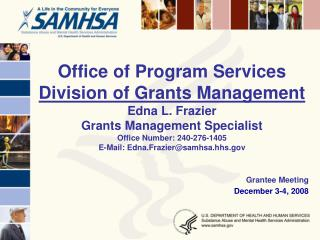 Grantee Meeting December 3-4, 2008