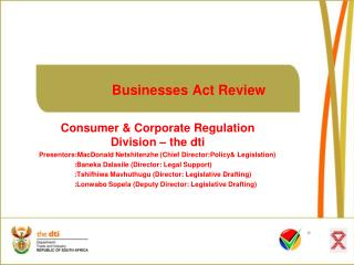 Businesses Act Review