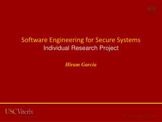 Software Engineering for Secure  Systems Individual Research Project