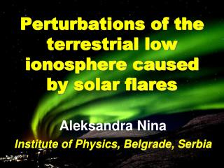 Perturbations of the terrestrial low ionosphere caused by solar flares