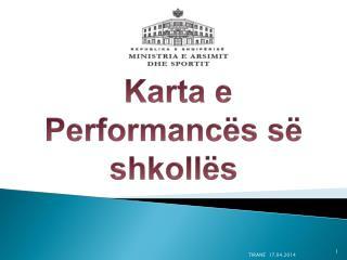 Karta e  Performancës së shkollës