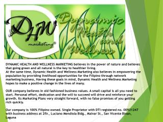 To  become a top-rate company providing livelihood and wellness products to the world.