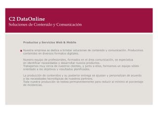 C2 DataOnline Soluciones de Contenido y Comunicaci�n