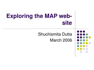 Exploring the MAP web-site