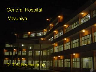 General Hospital  Vavuniya