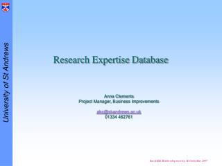Research Expertise Database