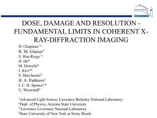 DOSE, DAMAGE AND RESOLUTION - FUNDAMENTAL LIMITS IN COHERENT X-RAY-DIFFRACTION IMAGING