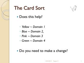 The Card Sort