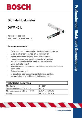 Digitale Hoekmeter DWM 40 L
