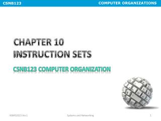 CHAPTER 10  INSTRUCTION SETS