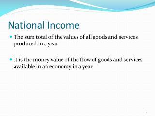 National Income
