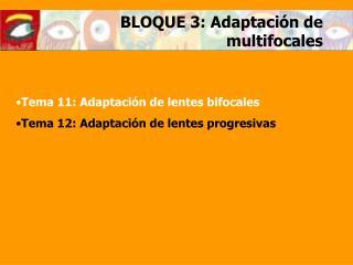 BLOQUE 3: Adaptaci�n de multifocales