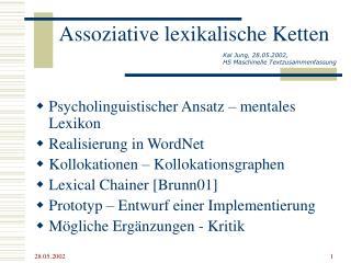 Assoziative lexikalische Ketten