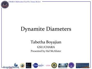 Dynamite Diameters