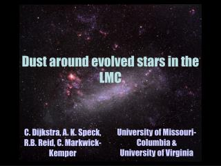 Dust around evolved stars in the LMC