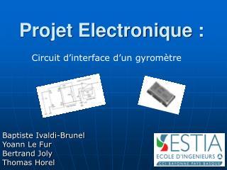 Projet Electronique :