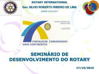 SEMINÁRIO DE DESENVOLVIMENTO DO ROTARY