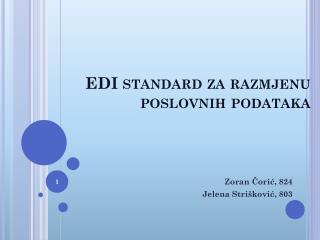 EDI standard za razmjenu poslovnih podataka