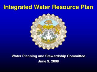 Integrated Water Resource Plan