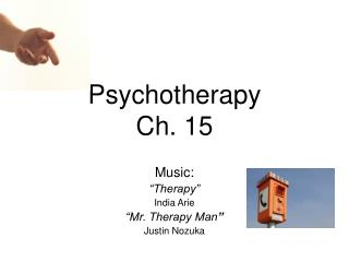 Psychotherapy  Ch. 15