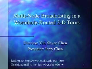 Multi-Node Broadcasting in a Wormhole-Routed 2-D Torus