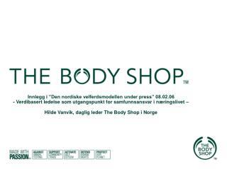 Historien bak The Body Shop