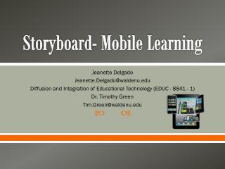 Storyboard- Mobile Learning
