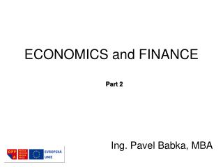 ECONOMICS and FINANCE