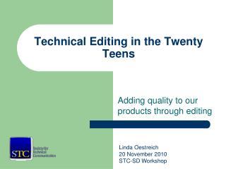 Technical Editing in the Twenty Teens