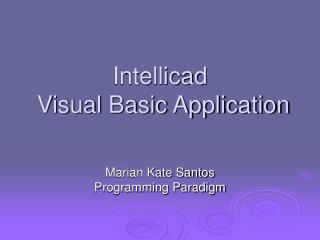 Intellicad  Visual Basic Application