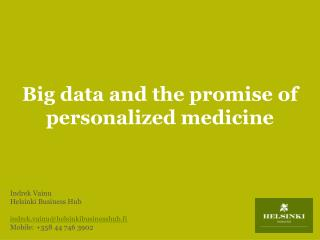 Big data and the promise of personalized medicine