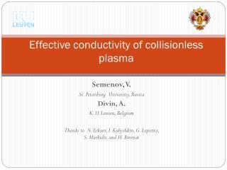 Effective conductivity of collisionless plasma