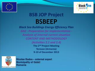 BSB JOP Project  BSBEEP Black Sea Buildings Energy Efficiency Plan