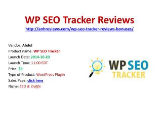 Wp seo-tracker Reviews Bonuses Discount Download