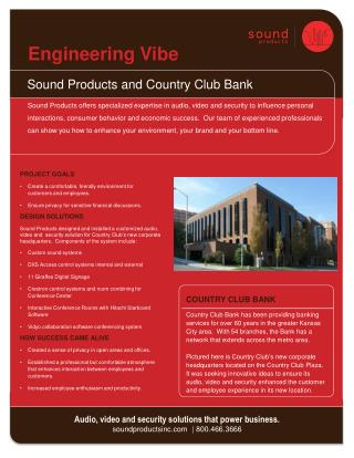 Sound Products and  Country Club Bank