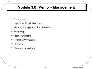 Module 3.0: Memory Management