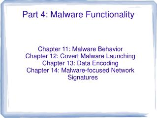 Part 4: Malware Functionality