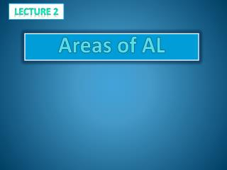 Areas of AL