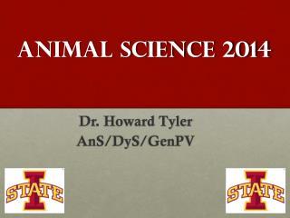 ANIMAL SCIENCE  2014