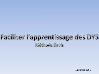 Méthode Davis