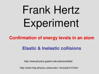 Frank Hertz Experiment