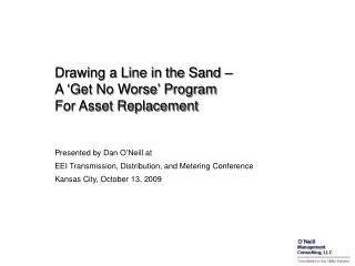 Drawing a Line in the Sand –  A 'Get No Worse' Program For Asset Replacement