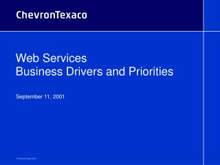 Web Services  Business Drivers and Priorities