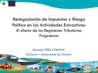 Germán VERA CONCHA OxCarre  – Universidad de Oxford