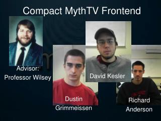 Compact MythTV Frontend