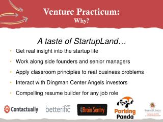 Venture Practicum: Why?