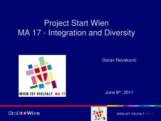 Project Start Wien MA 17 - Integration and Diversity