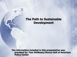 The Path to Sustainable Development