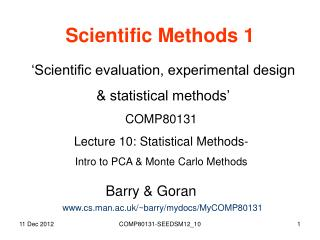 Scientific Methods 1
